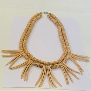 Natural wood double strand spike unique statement
